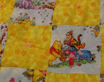 Winnie the Pooh small quilted blanket