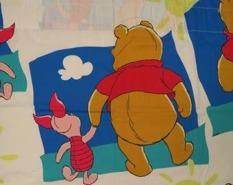 Vintage Winnie the Pooh curtain panel
