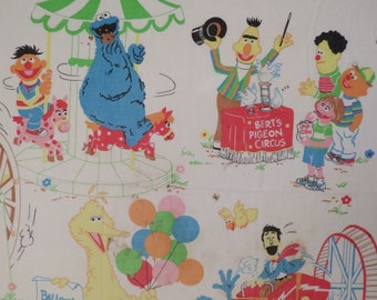 Vintage Sesame Street twin fitted sheet