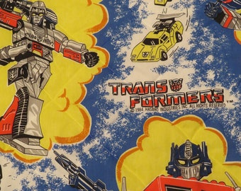 Vintage Transformers Twin bedspread from 1984