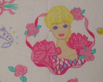 Vintage Barbie Twin flat sheet