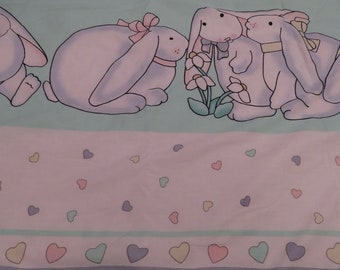 Vintage Cute Lop Eared Bunnies blanket
