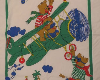 Vintage Teddy Bear Crib comforter
