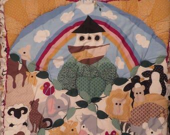 Vintage Noah's Ark Crib comforter