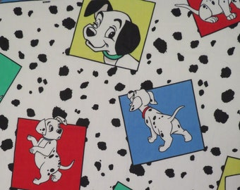 Vintage 101 Dalmatians twin sheet set -includes flat, fitted, and pillowcase