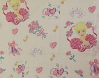 Vintage Barbie Curtain panel