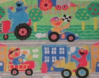 Vintage Sesame Street toddler comforter