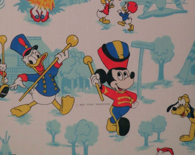 Featured listing image: Vintage Mickey Mouse Twin flat sheet