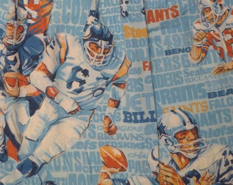 Vintage NFL curtain set -includes 2 curtains and a valance