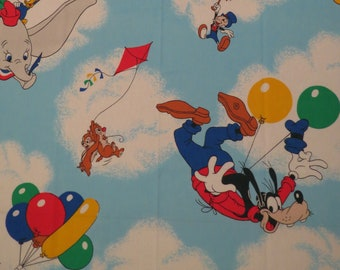 Vintage Mickey Mouse Twin flat sheet