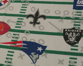 Vintage NFL Twin sheet set -includes flat, fitted, and pillowcase