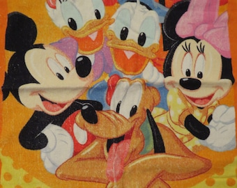 Vintage Mickey and Friends Towel