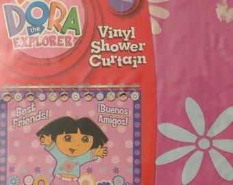 Dora the Explorer Vinyl Shower curtain -new in package