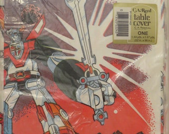 Vintage Voltron: Defender of the Universe table cover - New in package