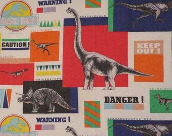 Vintage Jurassic Park twin flat sheet
