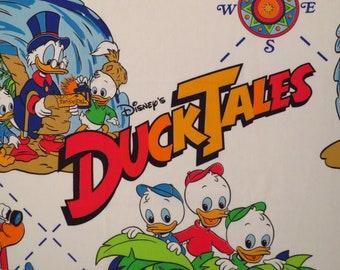Vintage DuckTales twin flat sheet