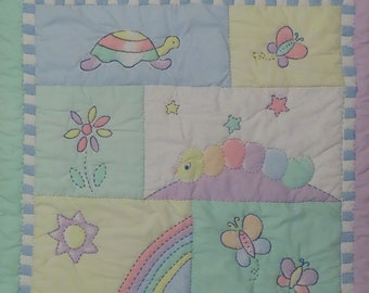Vintage Baby GUND small quilted blanket
