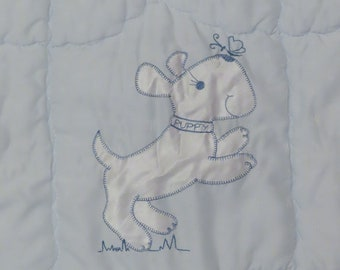 Vintage Cute Puppy Crib comforter
