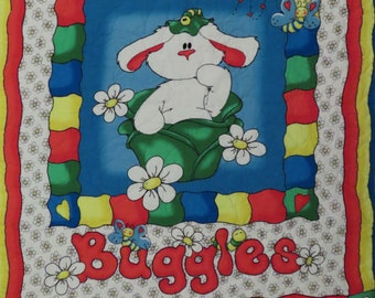 Vintage Buggles the Bunny small quilted blanket