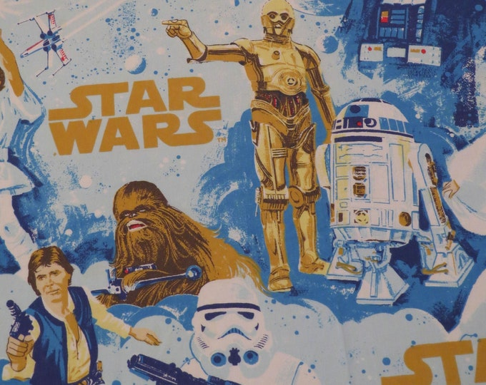 Featured listing image: Vintage Star Wars Twin flat sheet