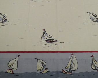 Vintage Sailboat twin flat sheet