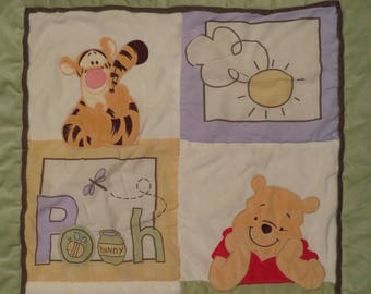 Winnie the Pooh crib comforter and bedskirt
