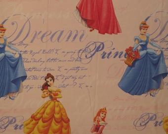 Vintage Disney Princess Full sized flat sheet