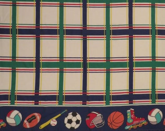Vintage Fun Sports Twin top and bottom sheets