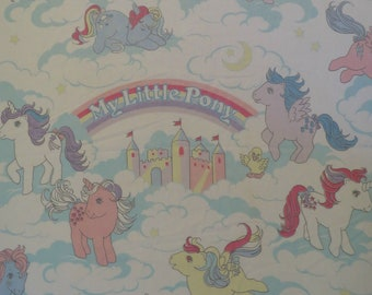 Vintage My Little Pony twin fitted sheet