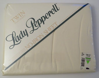 Vintage Lady Pepperell twin flat sheet -new in package