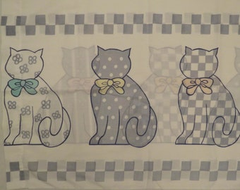 Vintage Cute Cats standard pillowcase