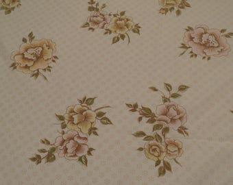 Vintage Floral King sized flat sheet