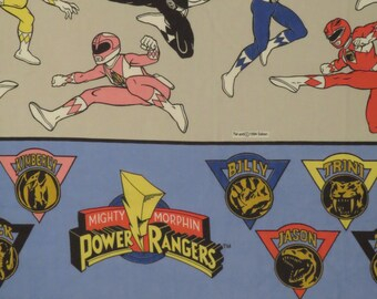 Vintage Power Rangers Twin flat and fitted sheets