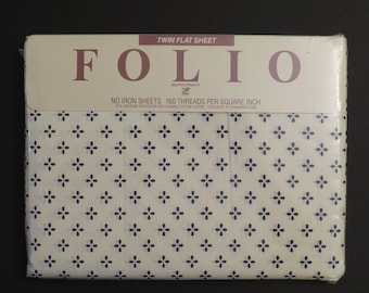 Vintage Folio Twin flat sheet -new in package