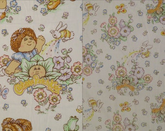 Vintage Cabbage Patch Kids twin sheet set -includes flat, fitted, and pillowcase