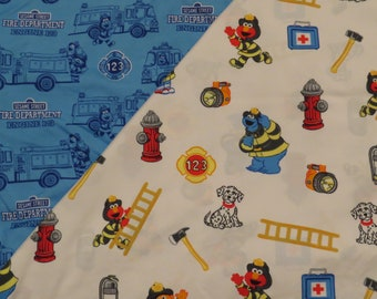 Sesame Street toddler flat and fitted sheets