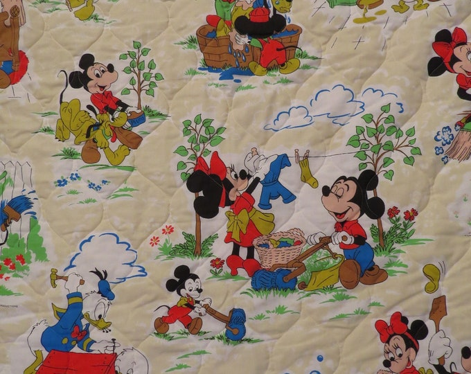 Featured listing image: Vintage Mickey Mouse Twin bedspread