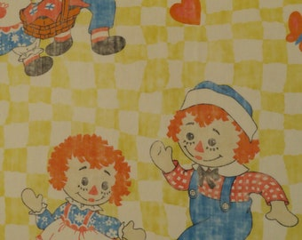 Vintage Raggedy Ann twin fitted sheet