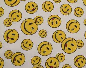 Vintage Smiley Face twin flat sheet