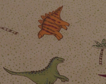Vintage Dinosaur Twin fitted sheet