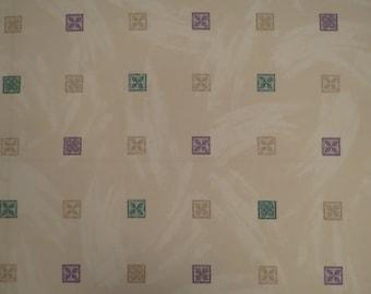 Vintage Geometric Floral twin flat sheet