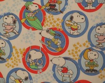 Vintage Snoopy Twin flat sheet