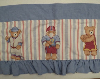 Set of 2 Vintage Teddy Bear Valances