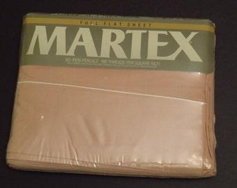 Vintage Martex Dark Pink Full flat sheet -new in package