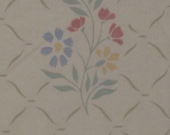 Vintage Floral Twin flat sheet