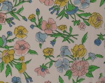 Vintage Floral twin flat sheet