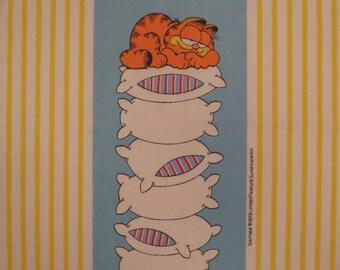 Vintage Garfield Twin flat sheet