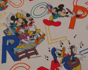 Vintage Mickey Mouse Twin flat and fitted sheets