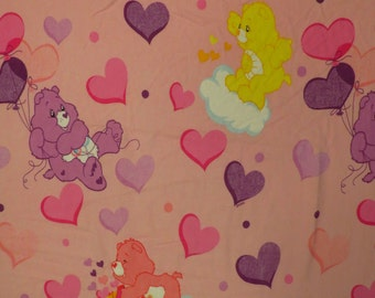 Care Bears Twin fitted flannel sheet