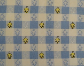 Vintage Tweety Bird Twin sheet set -includes flat, fitted, and pillowcase